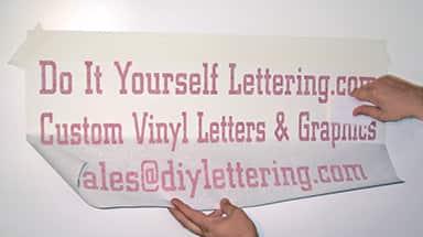 Vinyl Lettering Custom Vinyl Lettering Information