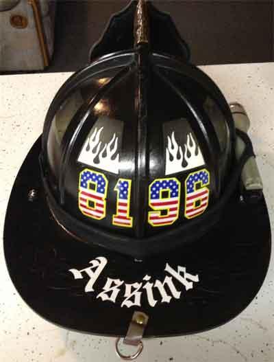 Helmet lettering faq for Fire helmet name lettering