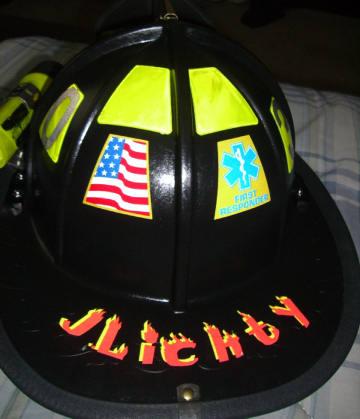 Vinyl lettering custom vinyl helmet lettering hard hat for Fire helmet name lettering