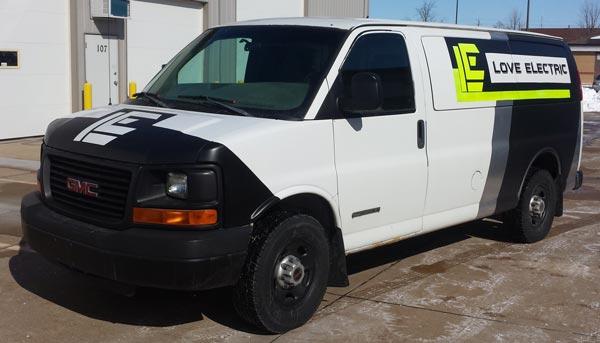 custom van lettering