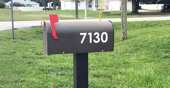 Decorative Adhesive Mailbox Numbers Home Decor 2017